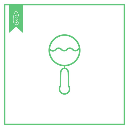 baby playing toy: Rattle icon Illustration