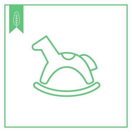bridle: Rocking horse icon Illustration