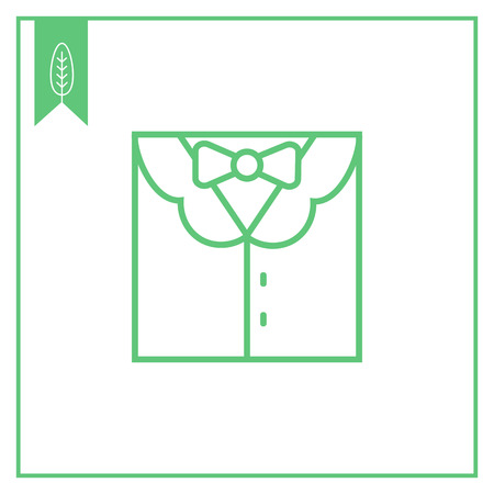 s tie: Icon of men's suit with shirt and bow tie Illustration