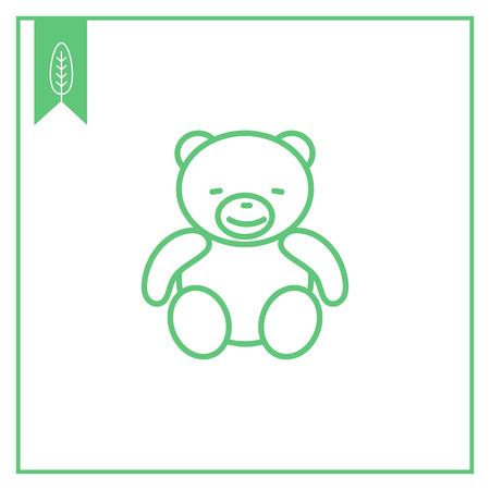 baby playing toy: Icon of teddy bear Illustration