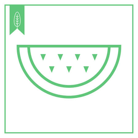 watermelon slice: Icon of watermelon slice Illustration