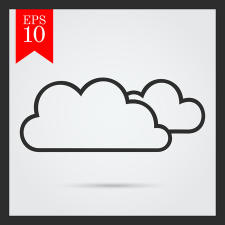 dull: Icon of clouds