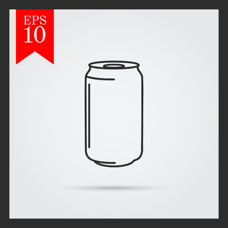 lata de refresco: Icono de la lata de aluminio