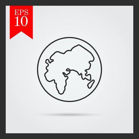 globo terraqueo: Tierra globo icono Vectores