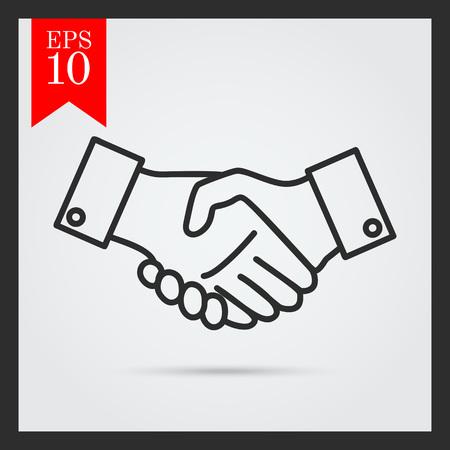 saludo de manos: Icono del hombre signo apret�n de manos