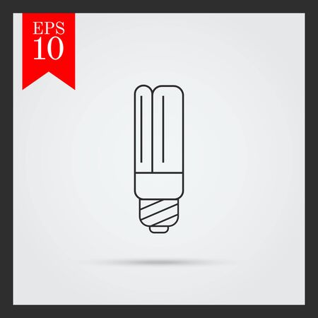 led lamp: Line icon of led lamp Illustration