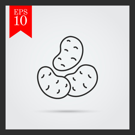 root crop: Potatoes icon Illustration
