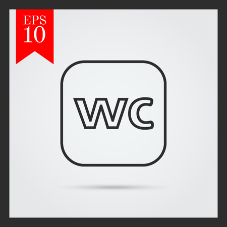 wc: WC sign icon Illustration