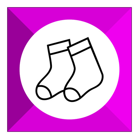 the pair: Icon of baby socks pair Illustration