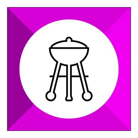 roasting: Charcoal grill icon