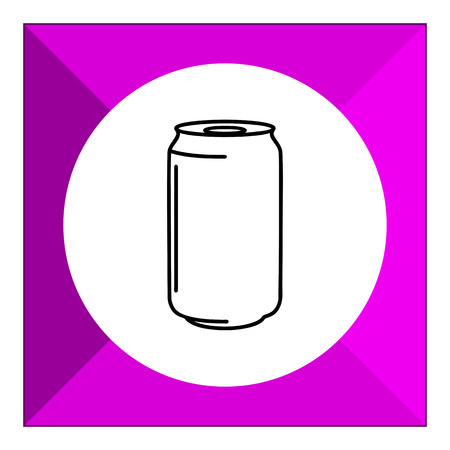 aluminum: Icon of aluminum can