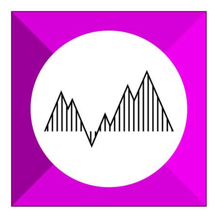 uptrend: Graph icon