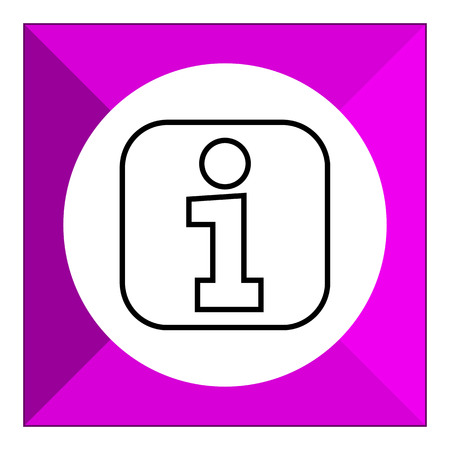information icon: Information point sign icon Illustration