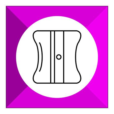 sacapuntas: Icono de los sacapuntas de lápiz Vectores