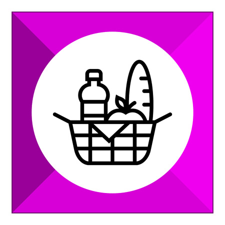 basket: Picnic basket icon