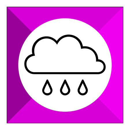 humidity: Icon of clouds and few falling raindrops