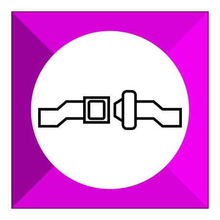 cinturon seguridad: Icono de cinturón de seguridad de desbloqueo Vectores
