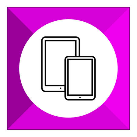 Icon of smartphone and tablet computer