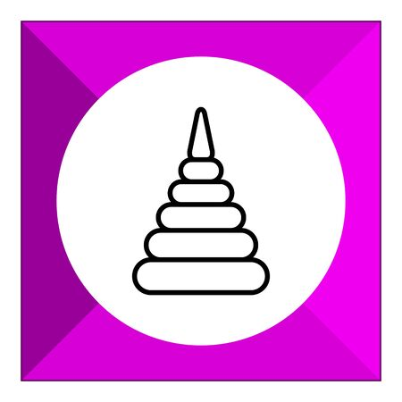baby playing toy: Stacking toy icon