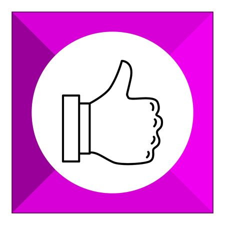 thumb up: Icon of thumb up sign Illustration