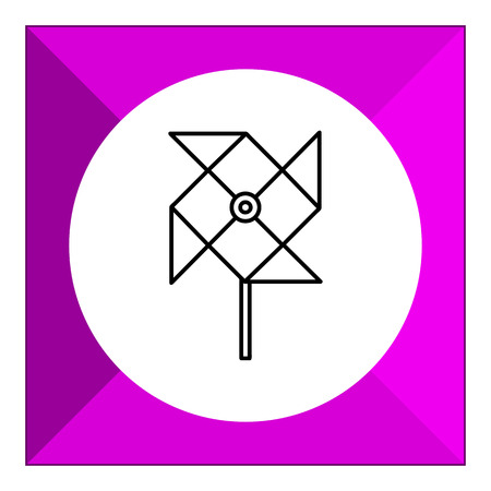 windmill toy: Icon of toy paper windmill Illustration