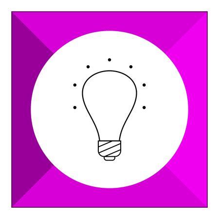 ultraviolet: Line icon of ultraviolet lightbulb Illustration