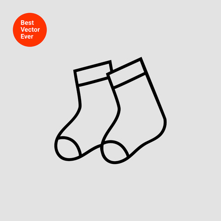 pair: Icon of baby socks pair Illustration