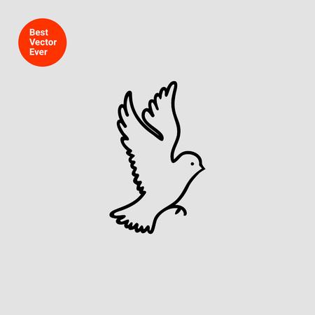 tweeting: Bird icon Illustration