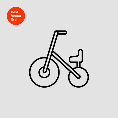 ni�os en bicicleta: Icon of children bicycle