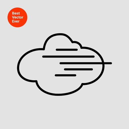 fog: Icon of cloud and fog sign