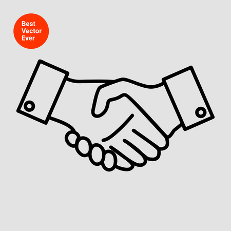 dando la mano: Icono del hombre signo apretón de manos