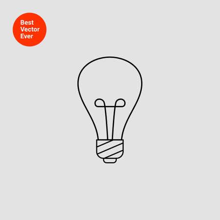 lightbulb: Lightbulb line icon