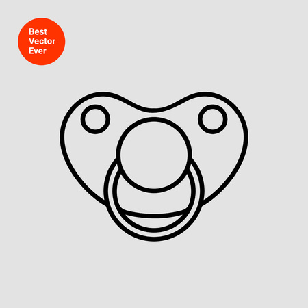 pacifier: Pacifier icon Illustration