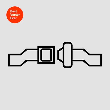 cinturon seguridad: Icono de cinturón de seguridad de desbloqueo Foto de archivo