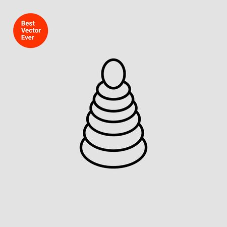 stacking: Icon of stacking toy Illustration