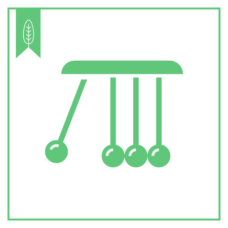 balancing: Vector icon of Newton cradle balancing balls