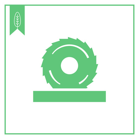 circular saw: Vector icon of circular saw disc with cogs