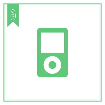mp3: Vector icon of mp3 player with blank display