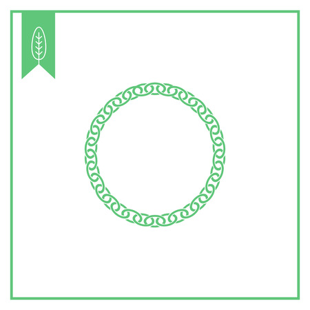 chunky: Vector icon of round chunky metal chain Illustration