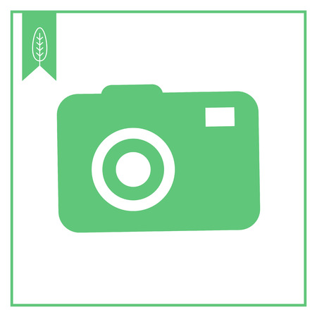 snapshot: Vector icon of digital snapshot camera silhouette
