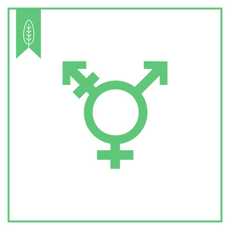 transgender: Vector icon of transgender symbol combining gender symbols