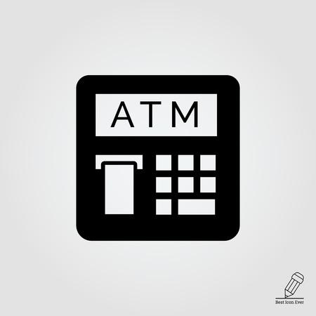 automatic teller machine: icono del cajero autom�tico con el recibo