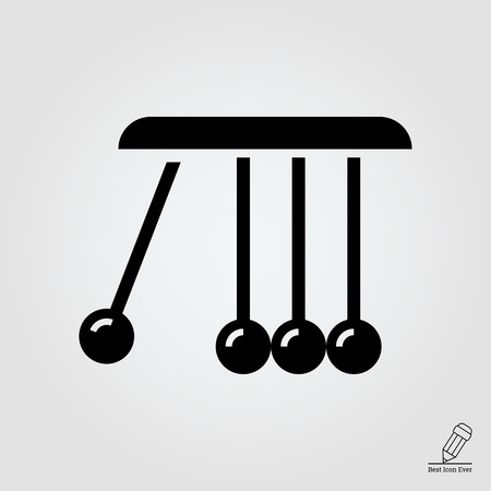 kinetic: icon of Newton cradle balancing balls