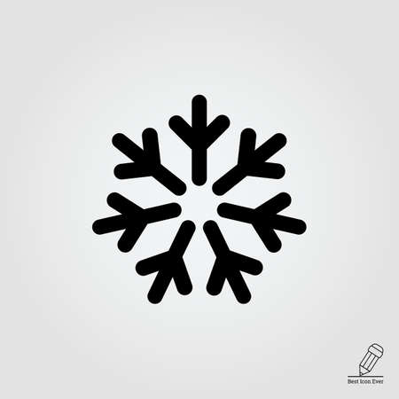 depicting: icon of cold sign depicting snowflake