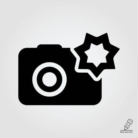 snapshot: icon of snapshot camera with flash