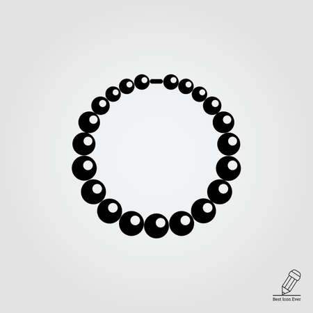 snap: Vector icon of shiny necklace made of beads Illustration