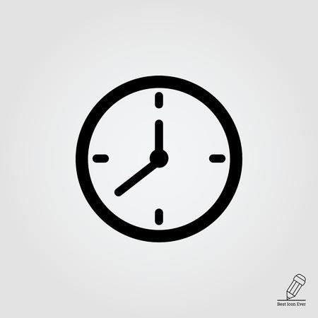 Vector icon of wall clock