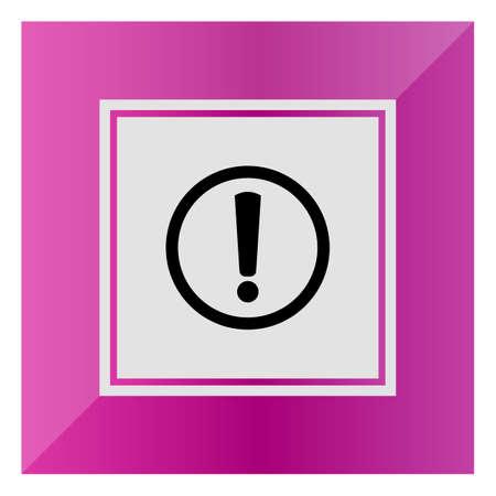 signo de admiracion: Vector icono de signo de exclamaci�n en el c�rculo
