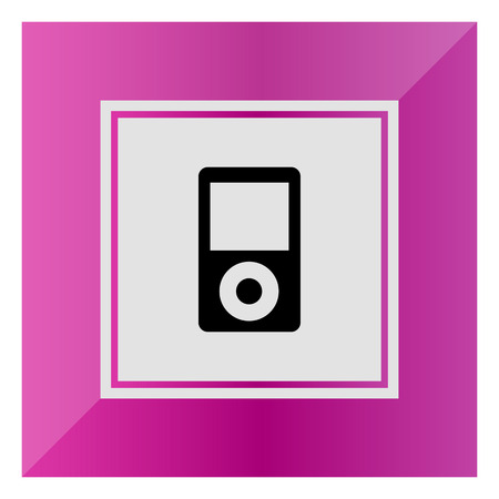 mp3 player: Vector icon of mp3 player with blank display