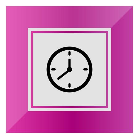 delay: Vector icon of wall clock